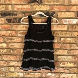 White House Black Market Layered Embroidered Tank